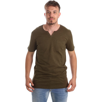 Textil Homem T-Shirt mangas curtas Antony Morato MMKS01487 FA100139 Verde