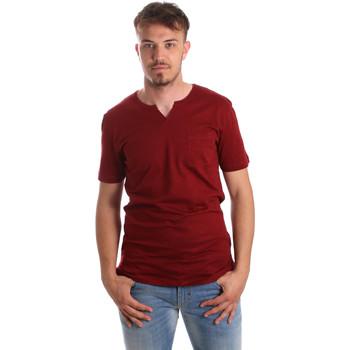 Textil Homem T-Shirt mangas curtas Antony Morato MMKS01487 FA100139 Vermelho