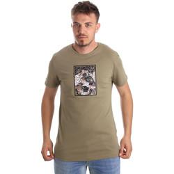 Textil Homem T-Shirt mangas curtas Antony Morato MMKS01551 FA100144 Verde