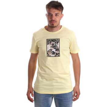 Textil Homem T-Shirt mangas curtas Antony Morato MMKS01551 FA100144 Amarelo