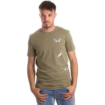 Textil Homem T-Shirt mangas curtas Antony Morato MMKS01515 FA100144 Verde