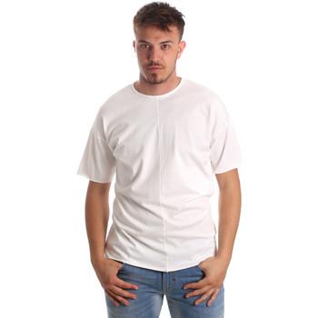 Textil Homem T-Shirt mangas curtas Antony Morato MMKS01564 FA100189 Branco