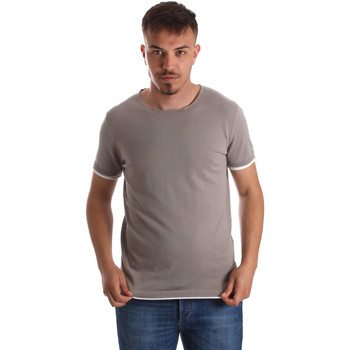 Textil Homem T-Shirt mangas curtas Gaudi 911FU53007 Cinzento