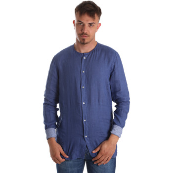 Textil Homem Camisas mangas comprida Gaudi 911BU45002 Azul