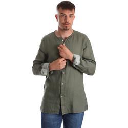 Textil Homem Camisas mangas comprida Gaudi 911BU45002 Verde