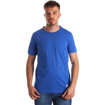 Textil Homem T-Shirt mangas curtas Gaudi 911BU64023 Azul