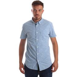 Textil Homem Camisas mangas curtas Wrangler W59446 Azul
