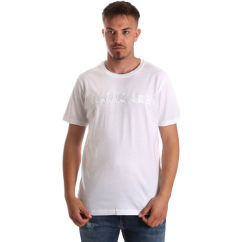 Textil Homem T-Shirt mangas curtas Navigare NV31070 Branco