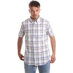 Textil Homem Camisas mangas curtas Navigare NV91057 BD Azul