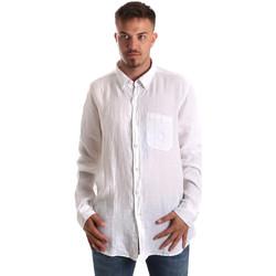 Textil Homem Camisas mangas comprida Navigare NV92067 BD Branco