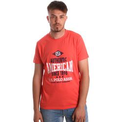 Textil Homem T-Shirt mangas curtas U.S Polo Assn. 52231 51331 Laranja