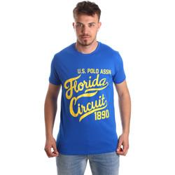Textil Homem T-Shirt mangas curtas U.S Polo Assn. 49351 51340 Azul