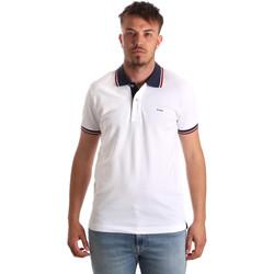Textil Homem Polos mangas curta Key Up 2Q62G 0001 Branco