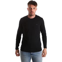 Textil Homem T-shirt mangas compridas Key Up 2E96B 0001 Preto