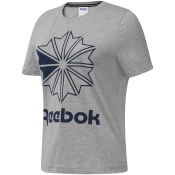 Textil Mulher T-Shirt mangas curtas Reebok Sport DT7221 Cinzento