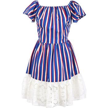 Textil Mulher Vestidos curtos Liu Jo F19384T2311 Azul