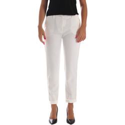 Textil Mulher Chinos Fracomina FR19SP684 Branco