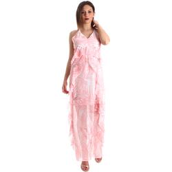 Textil Mulher Vestidos compridos Fracomina FR19SP429 Rosa