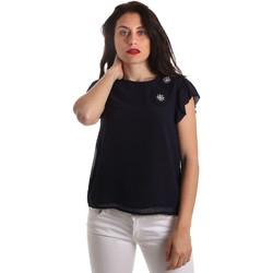 Textil Mulher Tops / Blusas Fracomina FR19SP567 Azul