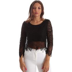 Textil Mulher Tops / Blusas Fracomina FR19SP099 Preto