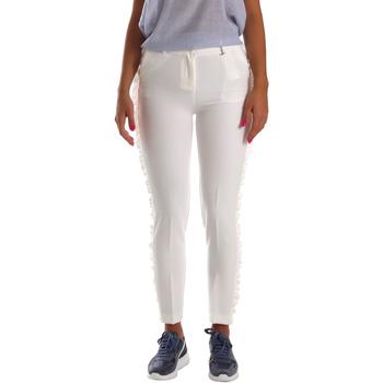 Textil Mulher Chinos Fracomina FR19SP666 Branco