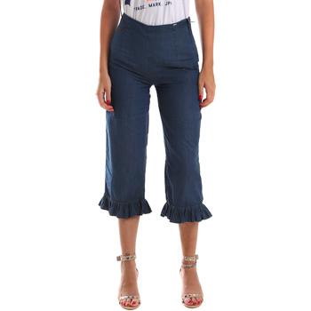 Textil Mulher Gangas ¾ & 7/8 Fracomina FR19SM502 Azul