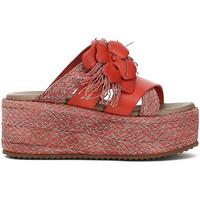 Sapatos Mulher Chinelos Café Noir HG133 Vermelho