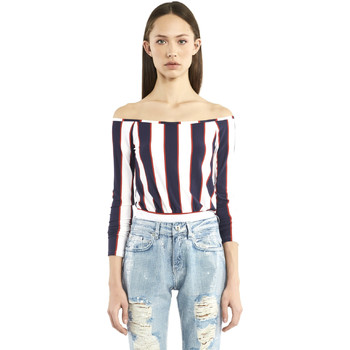 Textil Mulher T-shirt mangas compridas Denny Rose 911DD60016 Azul