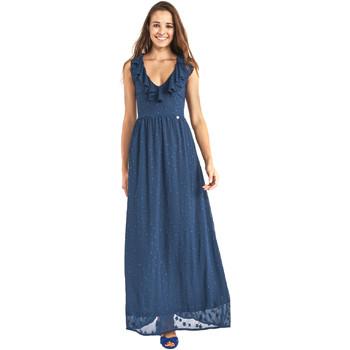 Textil Mulher Vestidos compridos Gaudi 911BD15007 Azul
