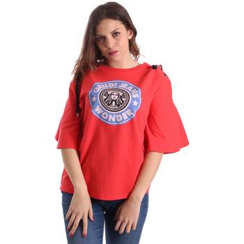 Textil Mulher T-Shirt mangas curtas Gaudi 911BD64037 Vermelho