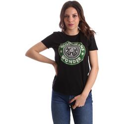Textil Mulher T-Shirt mangas curtas Gaudi 911BD64038 Preto