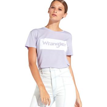 Textil Mulher T-Shirt mangas curtas Wrangler W7016D Tolet