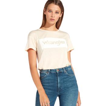 Textil Mulher T-Shirt mangas curtas Wrangler W7016D Laranja