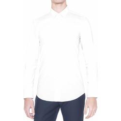 Textil Homem Camisas mangas comprida Antony Morato MMSL00375 FA450001 Branco
