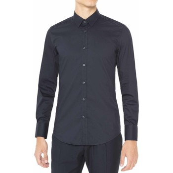 Textil Homem Camisas mangas comprida Antony Morato MMSL00375 FA450001 Azul
