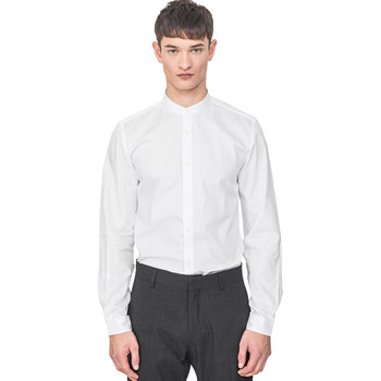 Textil Homem Camisas mangas comprida Antony Morato MMSL00604 FA440031 Branco