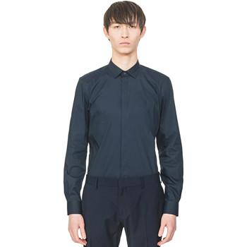 Textil Homem Camisas mangas comprida Antony Morato MMSL00293 FA450001 Azul