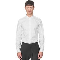Textil Homem Camisas mangas comprida Antony Morato MMSL00596 FA400072 Branco
