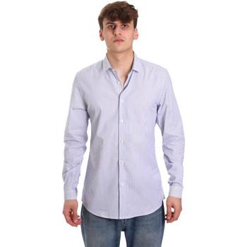 Textil Homem Camisas mangas comprida Antony Morato MMSL00596 FA420090 Branco
