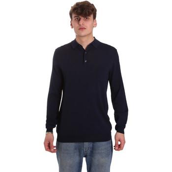 Textil Homem Polos mangas compridas Antony Morato MMSW01065 YA500057 Azul