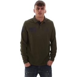 Textil Homem Polos mangas compridas U.S Polo Assn. 52416 47773 Verde