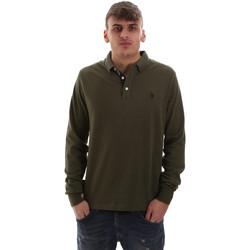 Textil Homem Polos mangas compridas U.S Polo Assn. 52415 47773 Verde