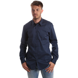 Textil Homem Camisas mangas comprida Gaudi 921FU45014 Azul