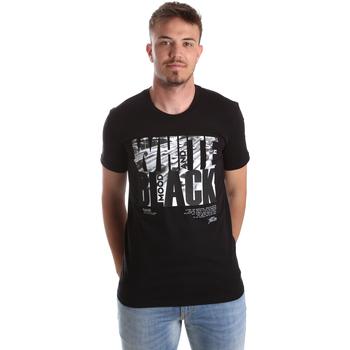 Textil Homem T-Shirt mangas curtas Gaudi 921FU64006 Preto