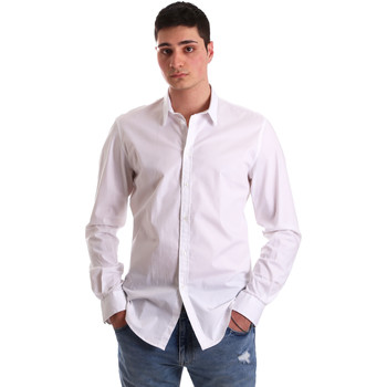 Textil Homem Camisas mangas comprida Gaudi 921BU45001 Branco