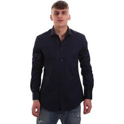 Textil Homem Camisas mangas comprida Gaudi 921BU45001 Azul