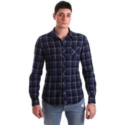 Textil Homem Camisas mangas comprida Gaudi 921BU45006 Azul