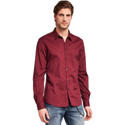 Textil Homem Camisas mangas comprida Gaudi 921BU45008 Vermelho