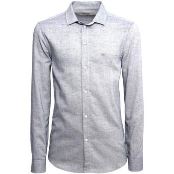 Textil Homem Camisas mangas comprida NeroGiardini A973180U Azul