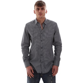 Textil Homem Camisas mangas comprida Antony Morato MMSL00574 FA430158 Azul